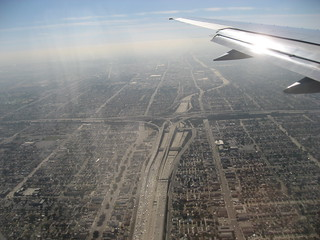 City of freeways, traffic, and smog