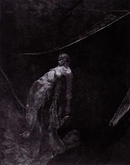 Back into Nothingness, plate fifteen from A Life, 1884, by Max Klinger