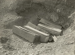 Middle Kingdom Coffins as Found, 1918-19, by Ambrose Lansing