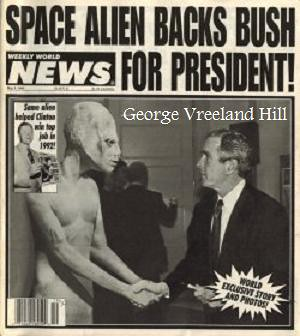 aliens meet president bush