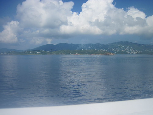 Pulling into St. Thomas