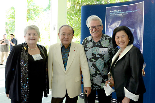 <p>University of Hawai'i President M.R.C. Greenwood, Sen. Daniel Inouye, UH Institute for Astronomy Director Gunther Hasinger and Irene Inouye.</p>