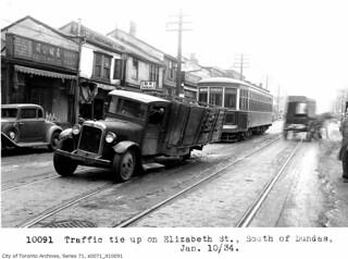 Elizabeth Street, south of Dundas Street