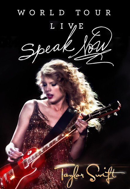 Taylor Swift Speak Now Live MiniDisc label design