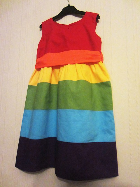 rainbow dress front