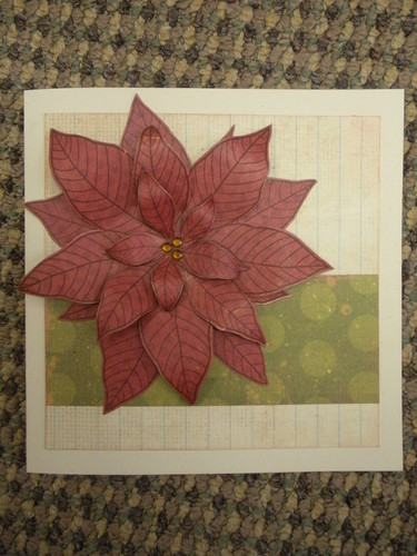 Country Charm Poinsettia Card