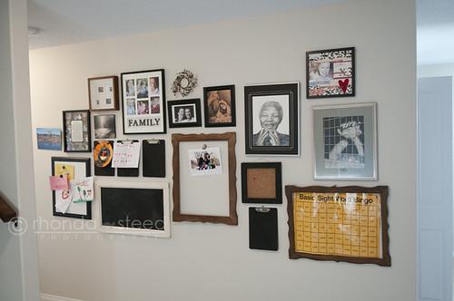 Basement Photo Wall