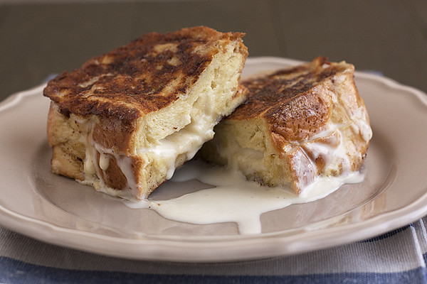 Eggnog-Stuffed French Toast