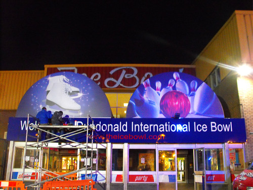 DUNDONALD ICE BOWL FULL COLOUR PRINTED DIBOND & ALUMINIUM SIGNAGE