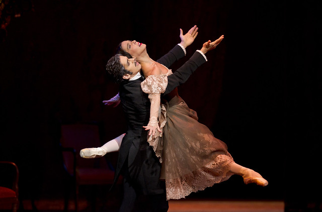 Laura Morera as Tatiana, and Federico Bonelli as Onegin in Onegin © ROH / Bill Cooper 2010