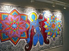 02/29 The Mural is installed on the featured artist wall at The Banana Factory