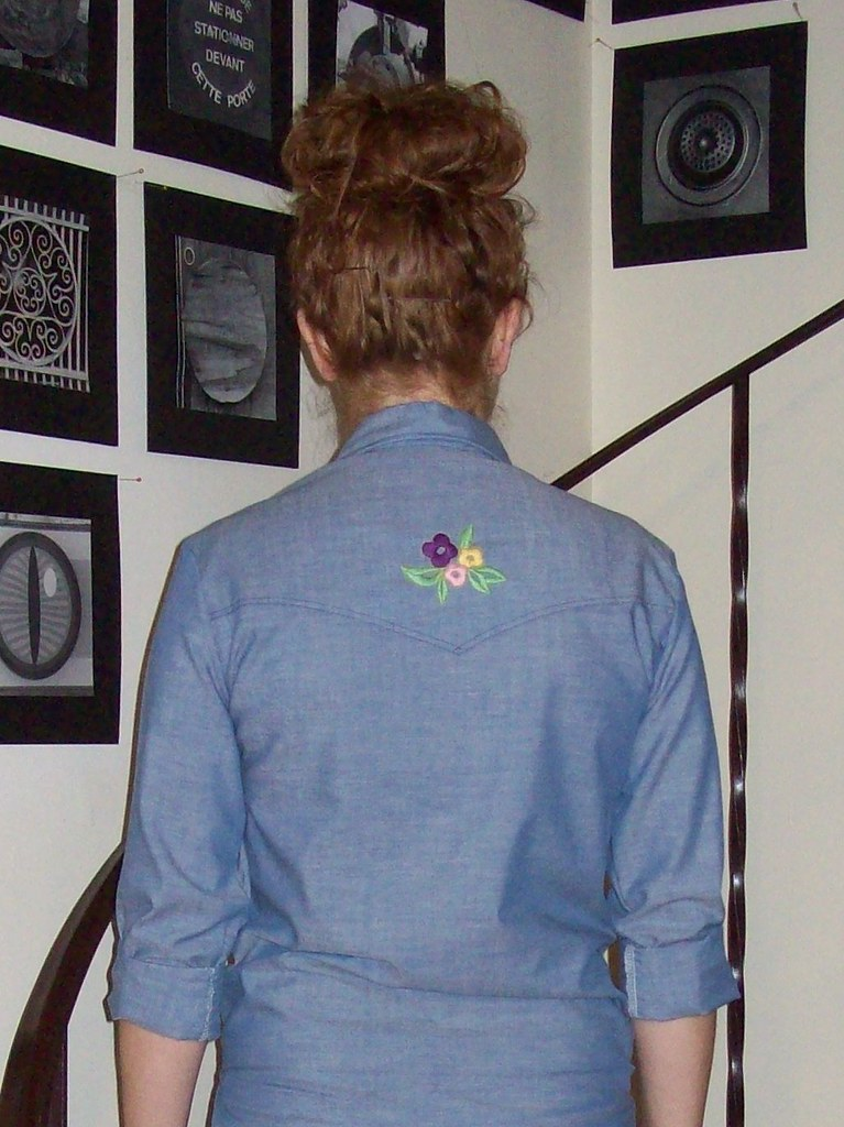 vintage Wrangler embroidered shirt back