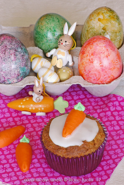 Easter carrot muffins
