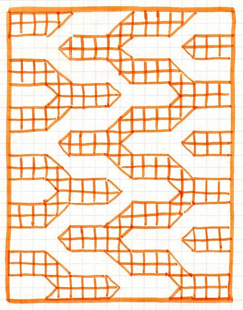 Quilting pattern for the Modern Chevron Baby Quilt