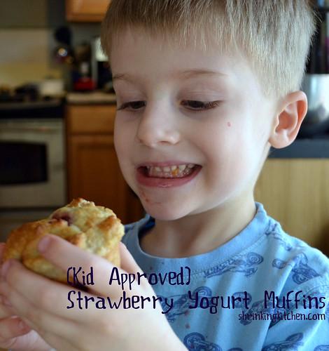 Strawberry Yogurt Muffins - Kid Approved