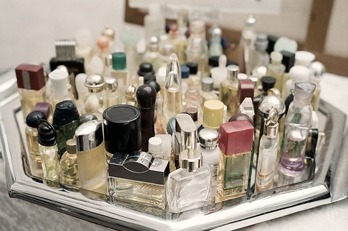 grandma's perfume collection