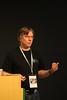 Jan Ulrich Hasecke at his talk at PyConDE 2011