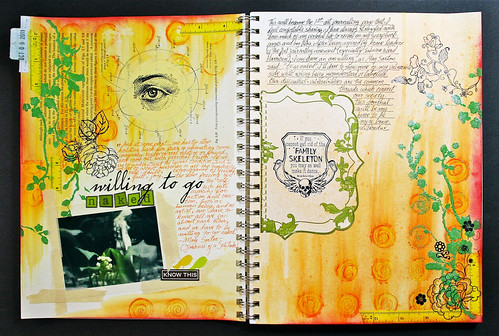 My 1st Art Journal spread