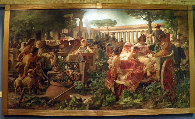 A Pythagorean School invaded by Sybarites - Michele Tedesco (1887), Guildhall Art Gallery, London