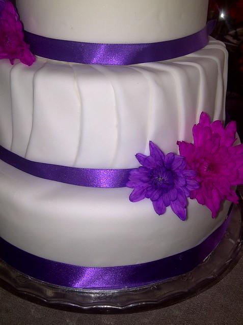 Purple And Pink Wedding Cake
