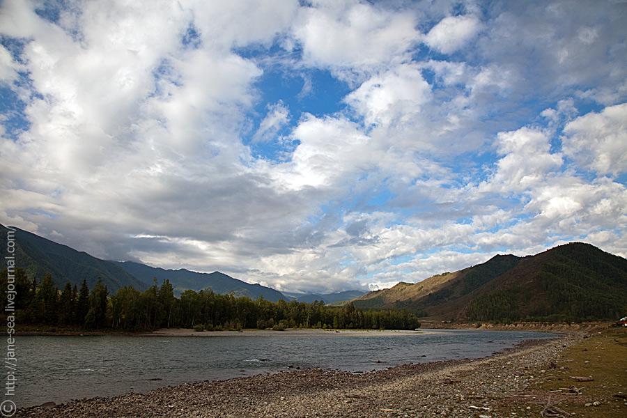 река Катунь в Тюнгуре