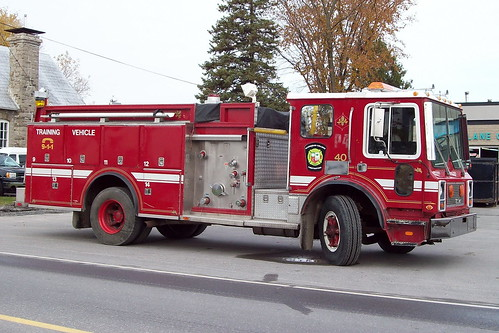 Algonquin College Firefighting fire engine training vehicle Ottawa, Ontario Canada 10232009-05 ©Ian A. McCord