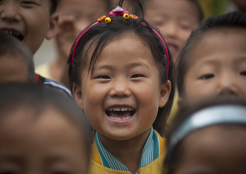 Kids in Hamhung school - North Korea