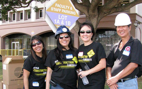 <p>Volunteers assisted as greeters and tour guides to hundreds of students that attended each day.</p>