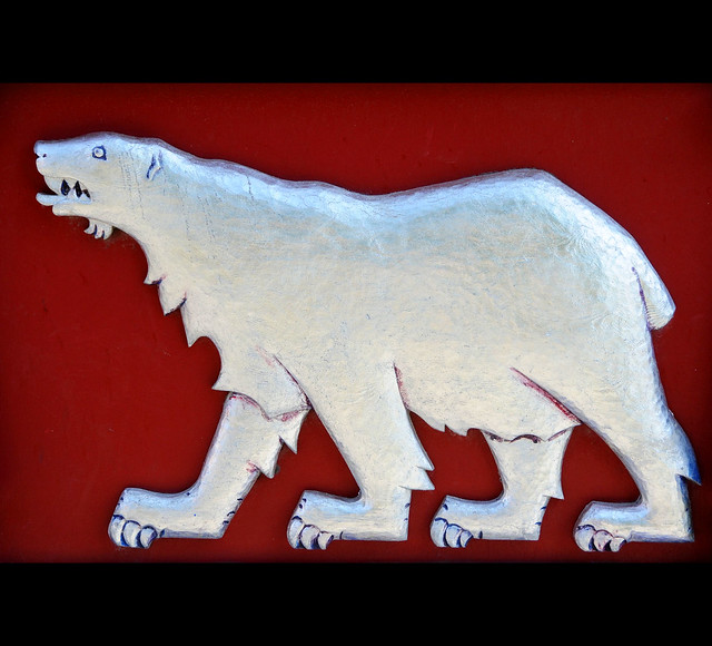 Polar bear features on the arms of Hammerfest / Norway