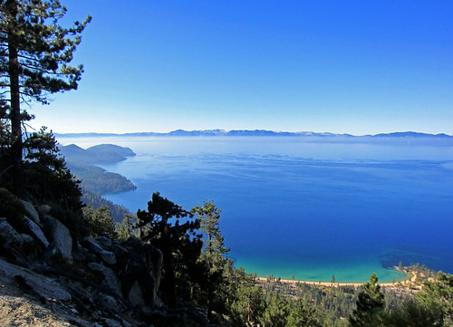 View over Lake Tahoe from Flume Trail