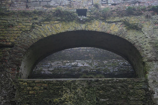 Image of Charles Fort near Kinsale. stone moss ruins kinsale archway hazy charlesfort