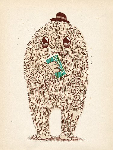Hairy drinking cool juice by Bert van Wijk