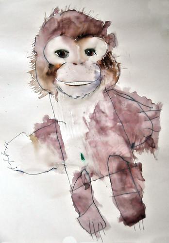 monkey baby painting
