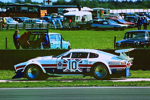 Aston Martin AM V8 - Robin Hamilton & Derek Bell at the 1980 Silverstone 6 Hrs
