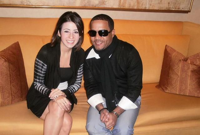 Dafne Guzmán con El Torito en Latin Grammy