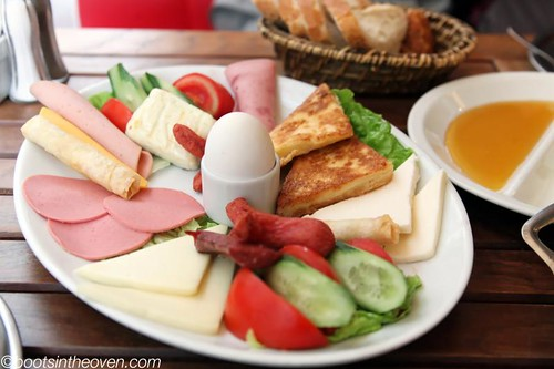 Turkish-style breakfast platter