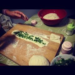 green onion flatbread