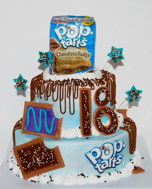 Pop Tart Theme 18th Birthday Cake