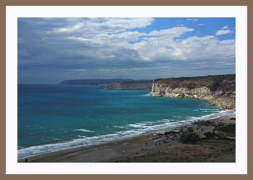 summer holiday landscape framed cyprus kourion κύπροσ κούριον