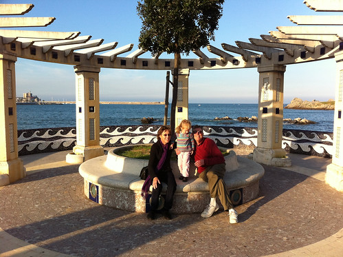 Betsy, Paul and Nora in Castro Urdiales