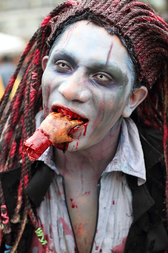 zombie walk  Mexico City  Nov 26, 2011