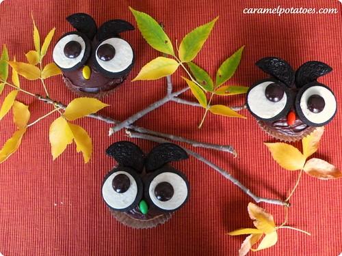 10.6 Caramel Potatoes Owl Cupcakes