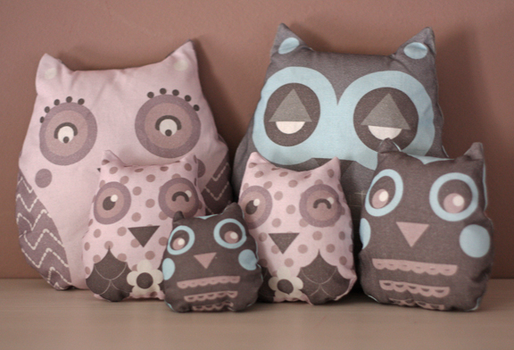 owl softies family