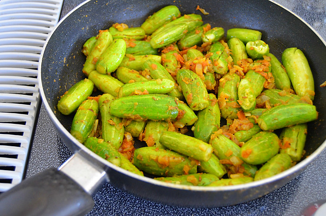 Ivy Gourd with Almonds (Tendli  Sukhe)
