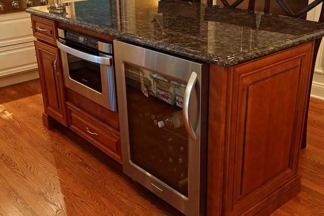Wine cooler in center kitchen island flickr photo sharing - Kitchens with wine coolers ...