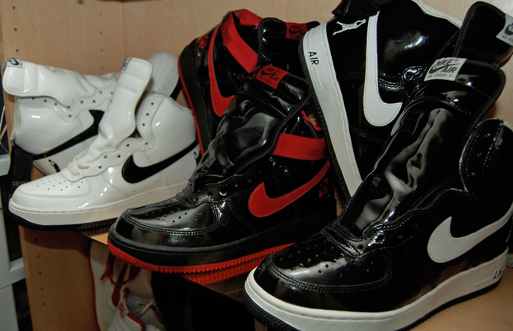 new style c6bc5 62272 ... Nike Air Force 1 High Unreleased Sheed Sample Patent - Vintage Rose  Garden High 2002 ...