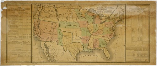 Map of the United States Including Western Territories, 12/1848