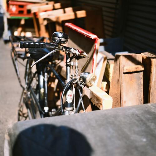 築地市場 之 太陽很大3D腳踏車