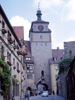 Rothenburg - Georgengasse and Weisser Turm
