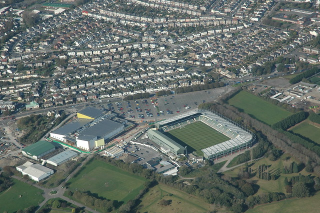 Home Park Plymouth Football Ground Aerial